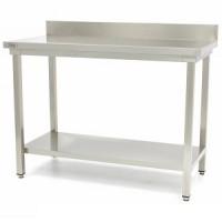 Darba galds nerūsējošā tērauda, saliekams 100x60